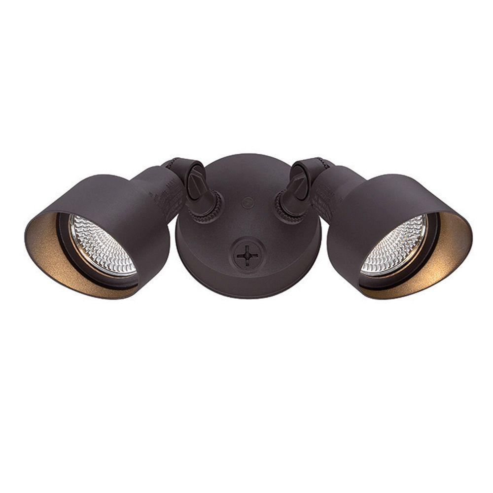 Acclaim Lighting Floodlights Collection 2 Light Architectural Bronze Outdoor  LED Light Fixture LFL2ABZ   The Home Depot