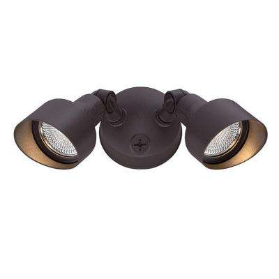 Floodlights Collection 2-Light Architectural Bronze Outdoor LED Light Fixture