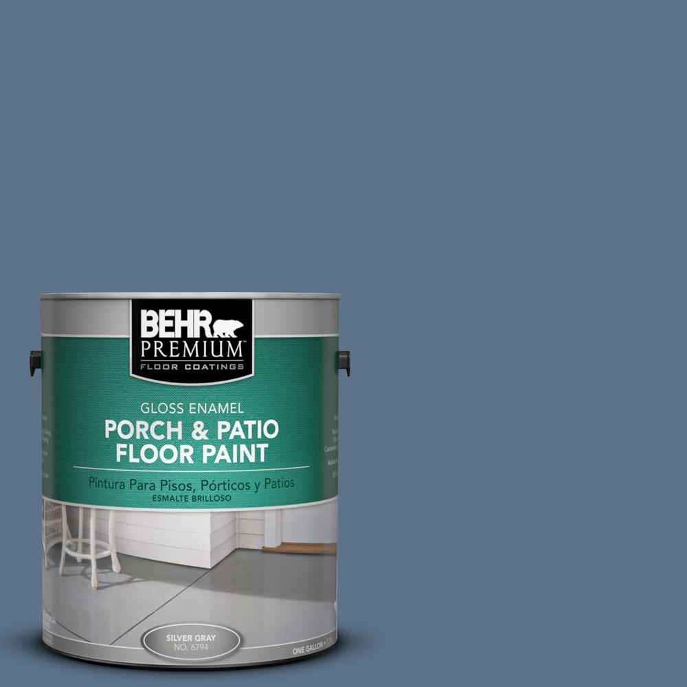 1 gal. #BXC-75 Saltbox Blue Gloss Porch and Patio Floor Paint
