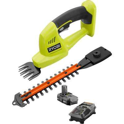 ONE+ 18-Volt Lithium-Ion Cordless Grass Shear and Shrubber Trimmer - 1.3 Ah Battery and Charger Included