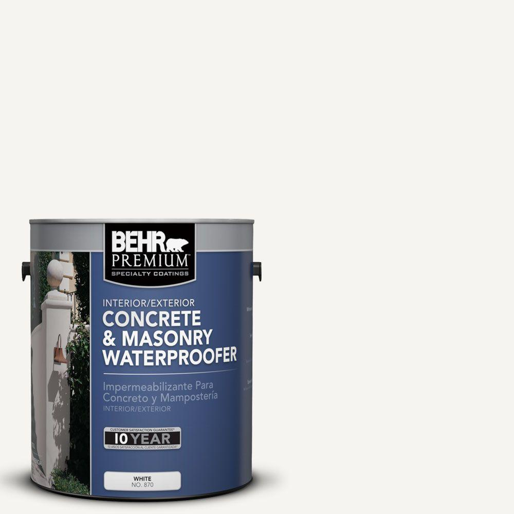 BEHR Premium 1 gal. #870 White Concrete and Masonry Waterproofer