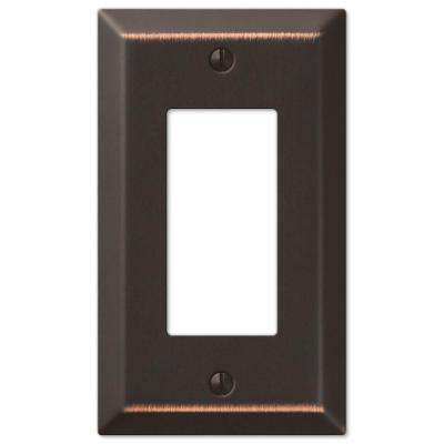 Metallic Steel 1 Rocker Wall Plate - Oil-Rubbed Bronze Cast