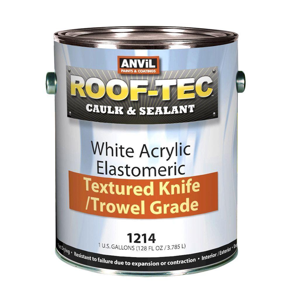1 Gal. Acrylic White Elastomeric Texture Knife/Trowel Grade Caulk and Sealant