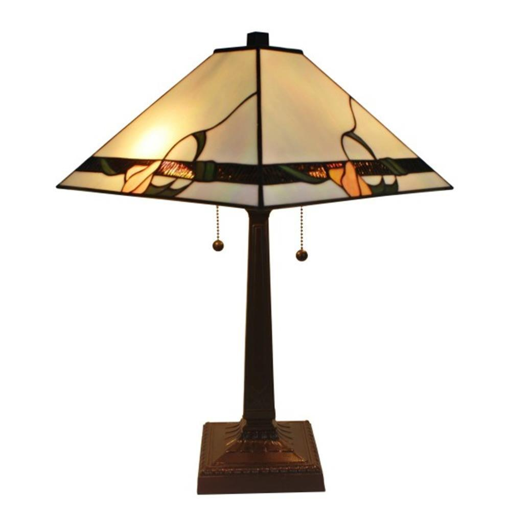 Amora Lighting 23 in. Tiffany Style Mission Table Lamp