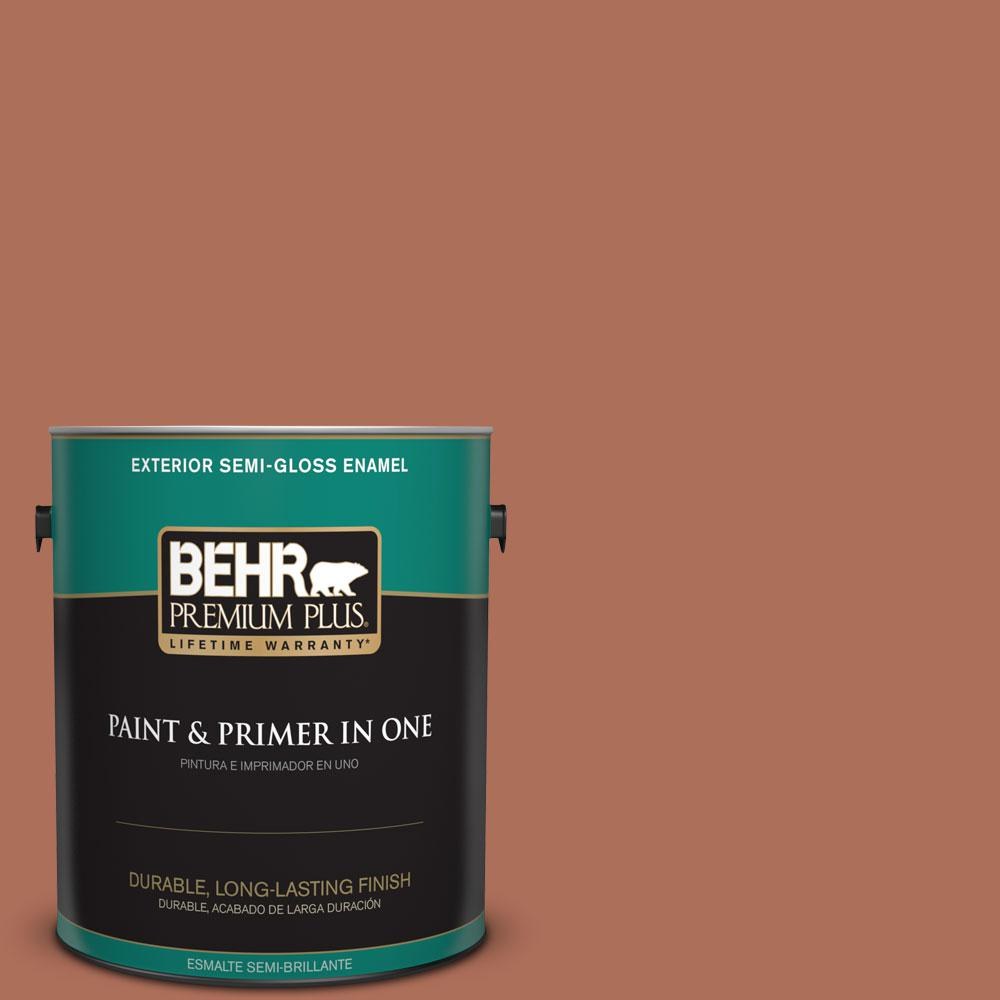 1-gal. #BXC-39 Sunset Orange Semi-Gloss Enamel Exterior Paint