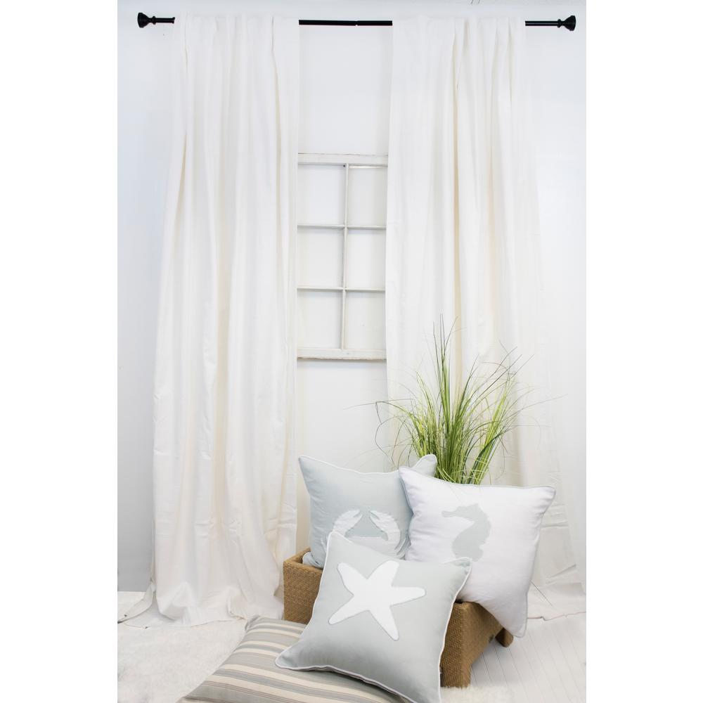 American Colors Brand 108 In L White Curtain Panel