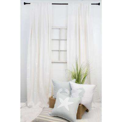 108 in. L White Curtain Panel