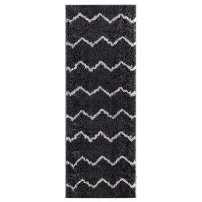 Tranquility Galen Smoke 2 ft. 7 in. x 7 ft. 2 in. Runner Rug