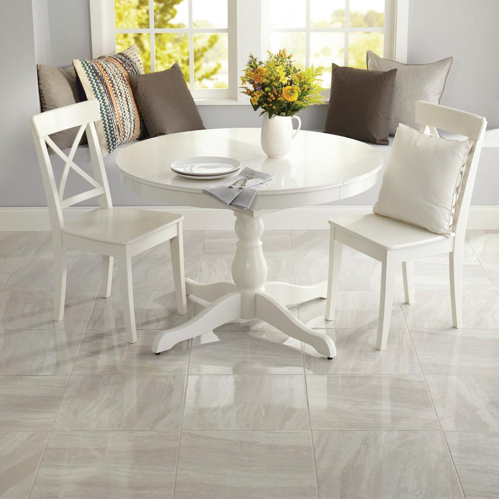 Daltile Hamilton Linear Gray 18 in  x 18 in  Ceramic Floor and Wall Tile  (17 76 sq  ft  / case)
