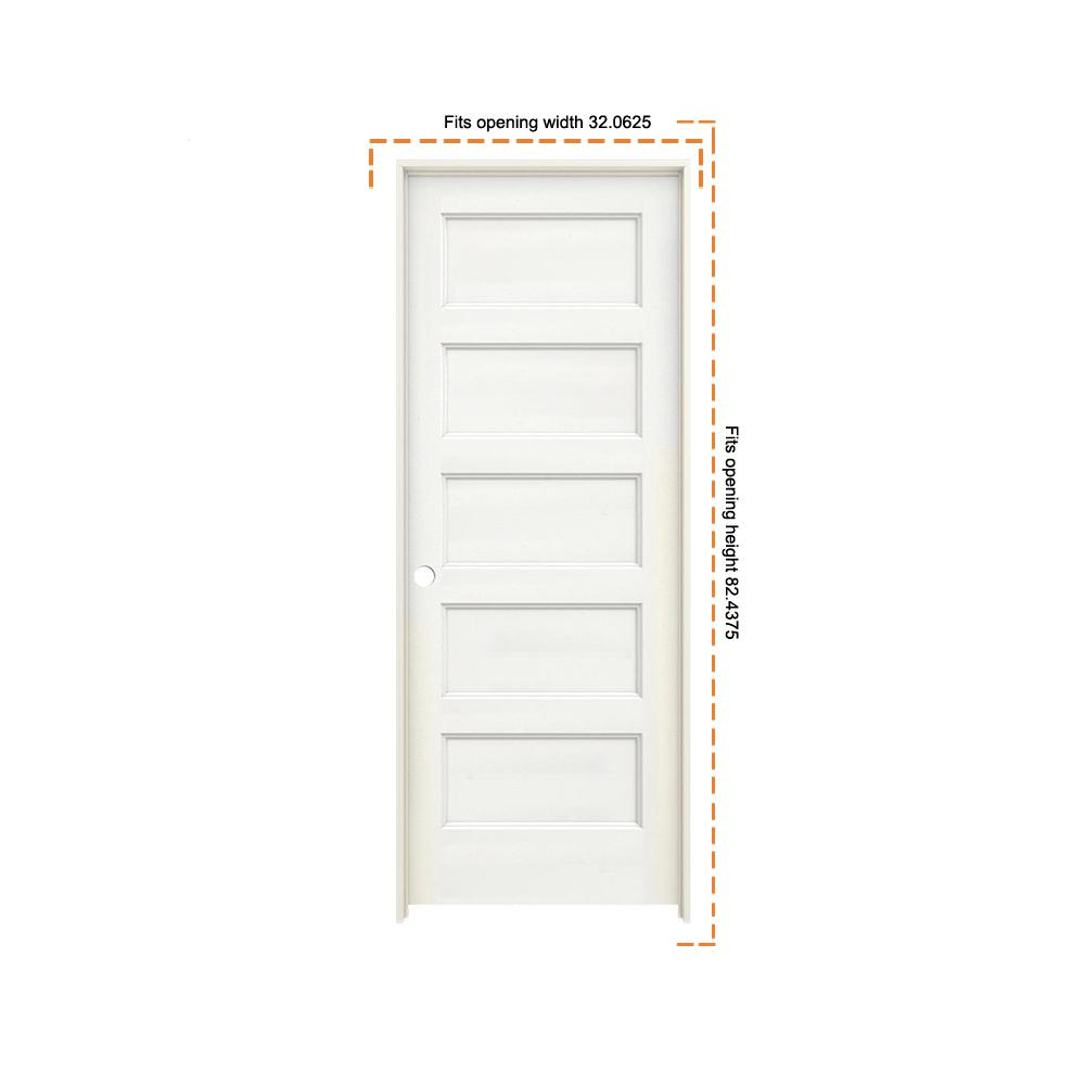 Jeld Wen 30 In X 80 In Conmore White Paint Smooth Hollow Core Molded Composite Single Prehung Interior Door