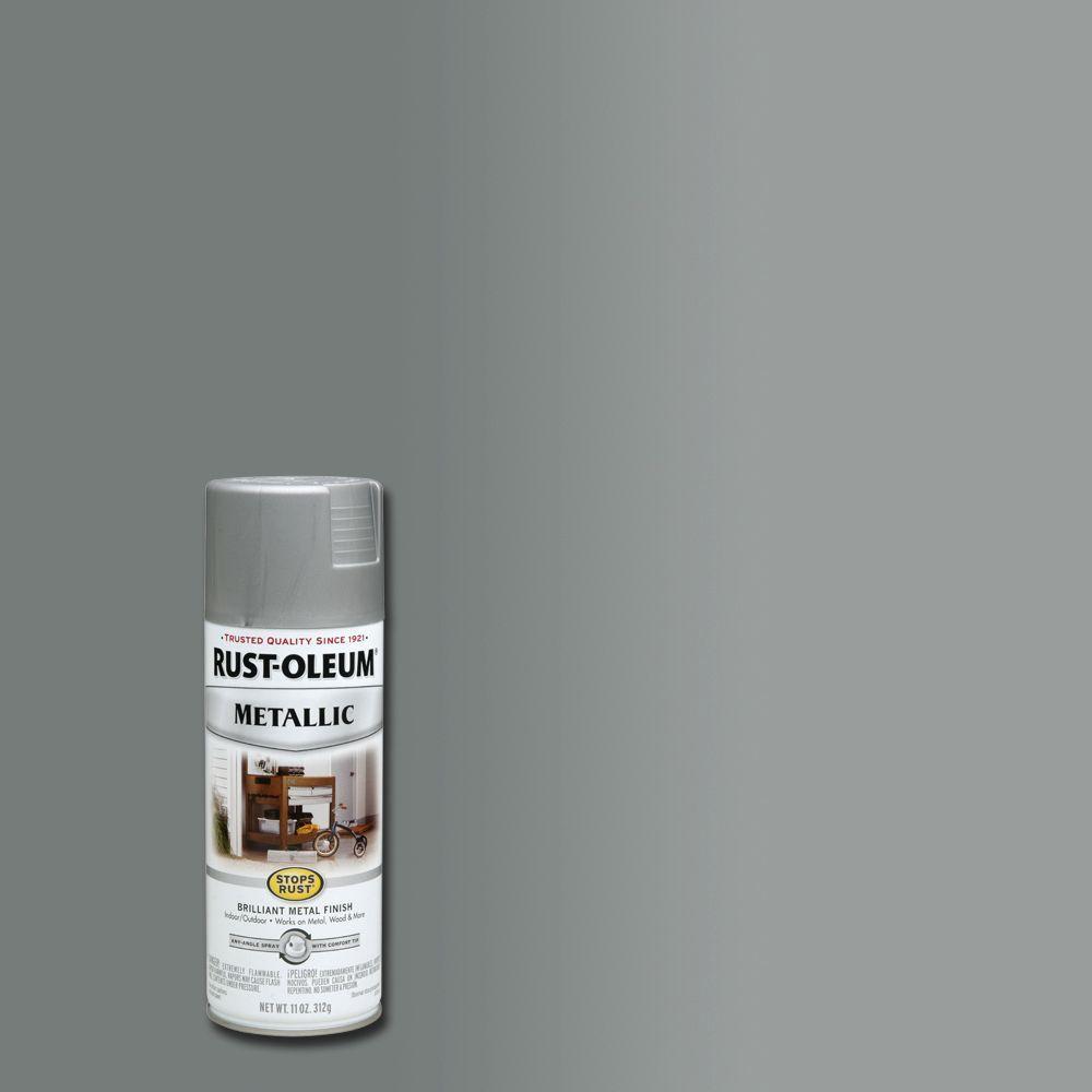 Rust Oleum Stops Rust 11 Oz Metallic Matte Nickel
