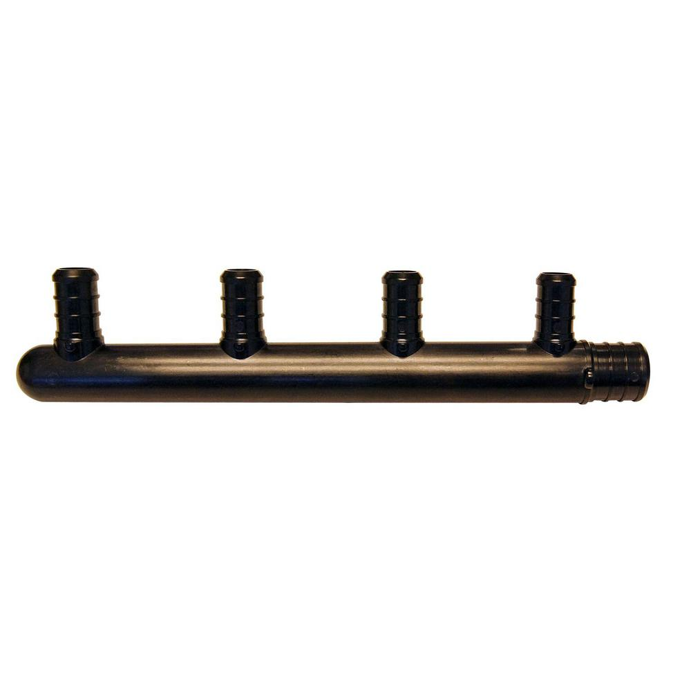 3/4 in. Barb Inlets x 1/2 in. Barb 4-Port PEX Closed