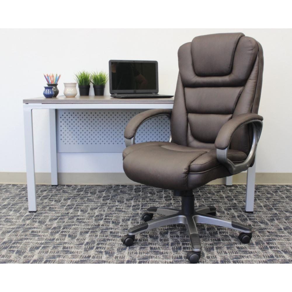 Boss Brown Quot Ntr Quot Executive Leatherplus Chair B8601 Bb