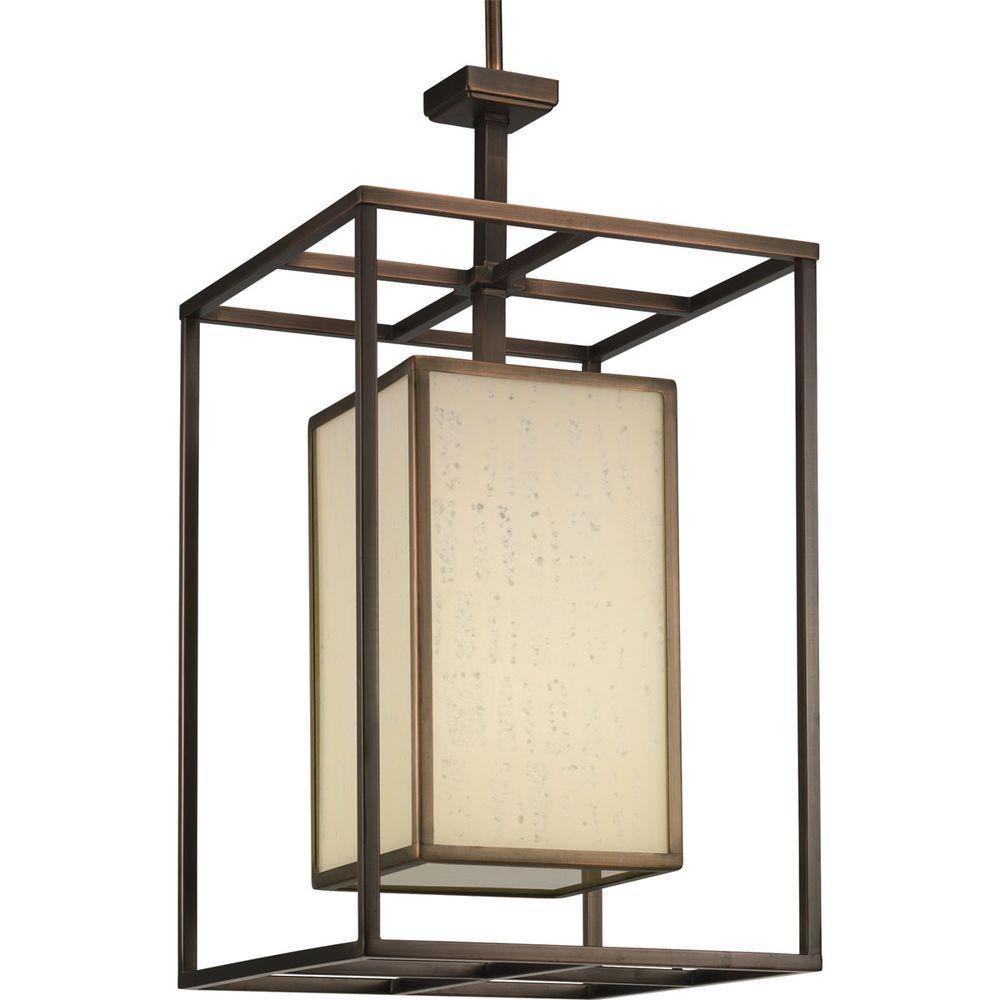 Progress Lighting Haven Collection 1-Light Copper Bronze Foyer Pendant