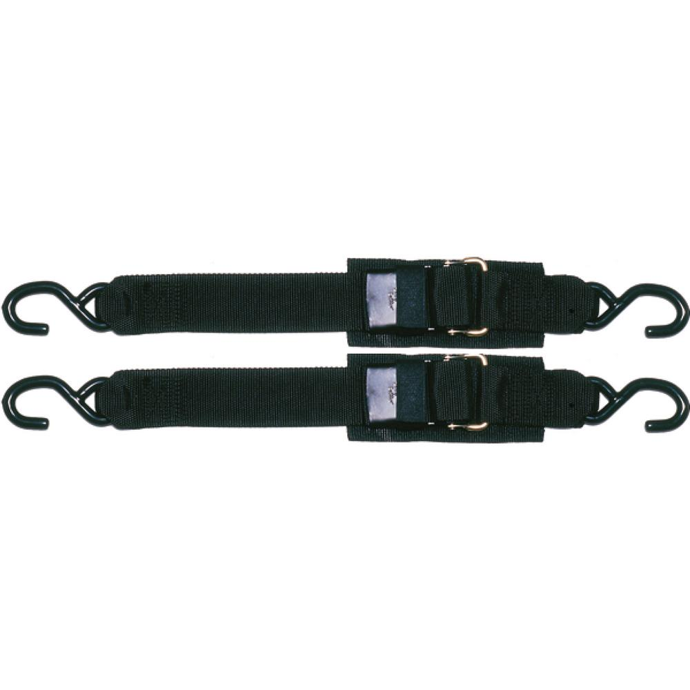 Star Brite Sta-Put 2 ft. Transom Tie Down With Quick Release Buckle (2-Pack)