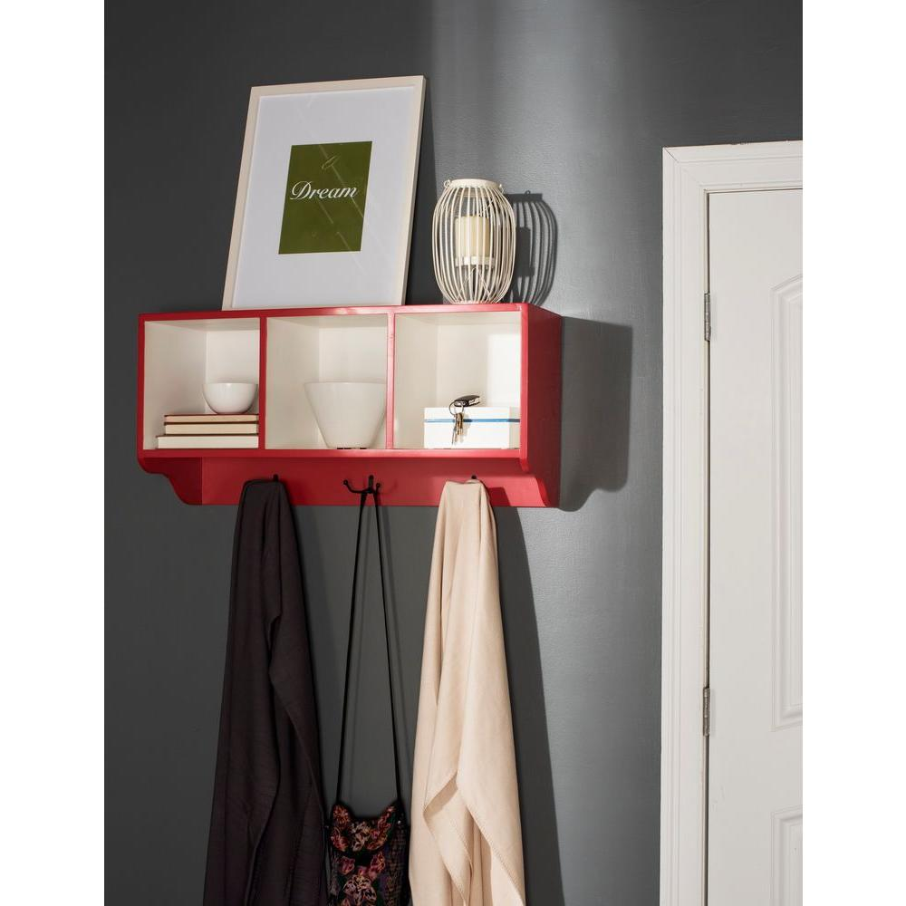 Safavieh Alice Red And White Wall Mounted Coat Rack