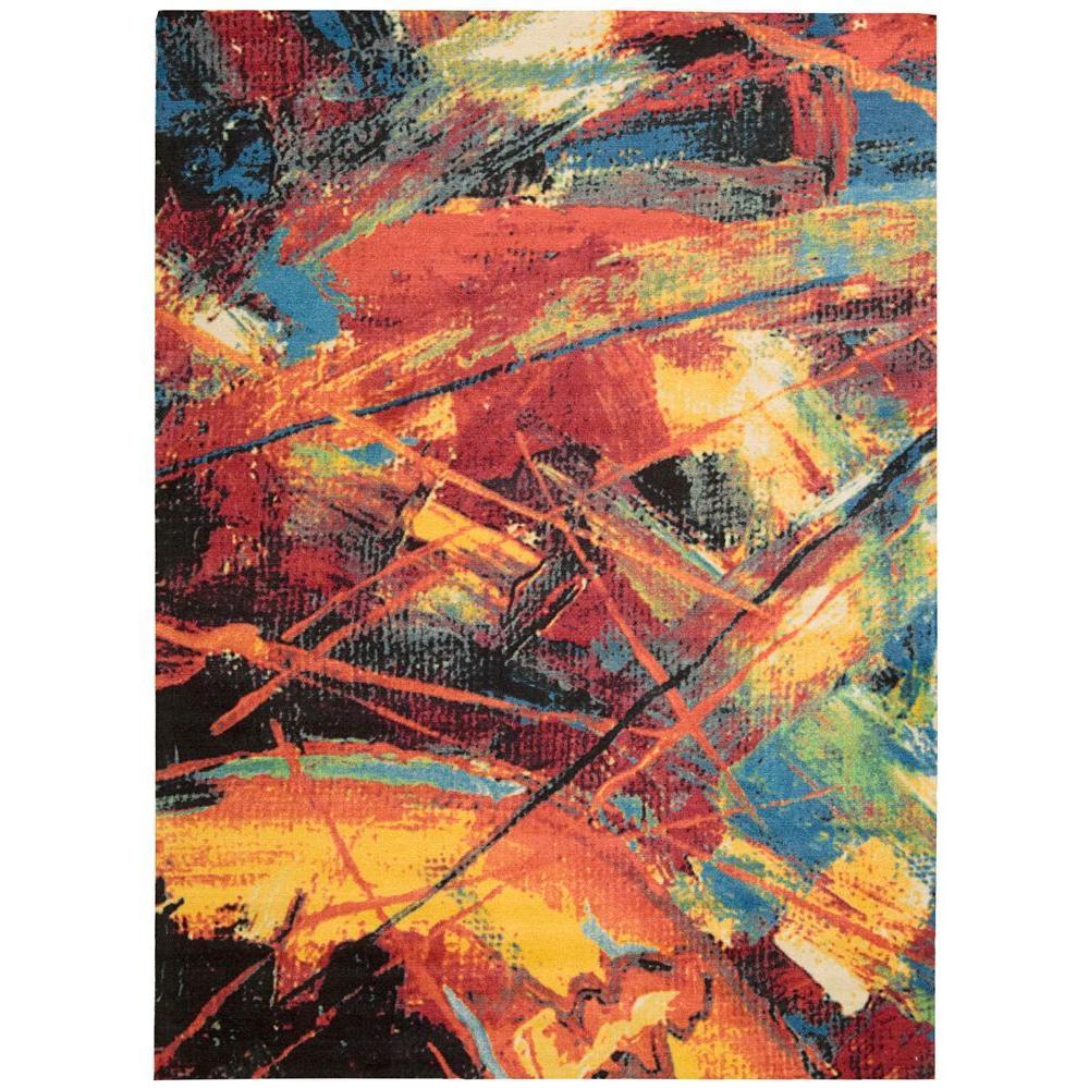 Nourison Overstock Altered States Splash Multicolor 4 ft. x 6 ft. Area Rug