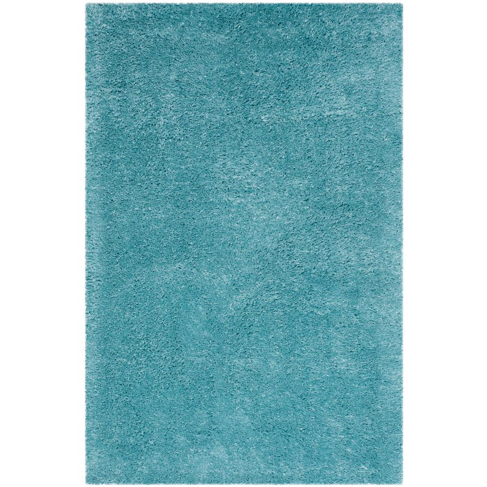 Safavieh Indie Shag Turquoise 6 ft. 7 in. x 9 ft. 2 in. A...