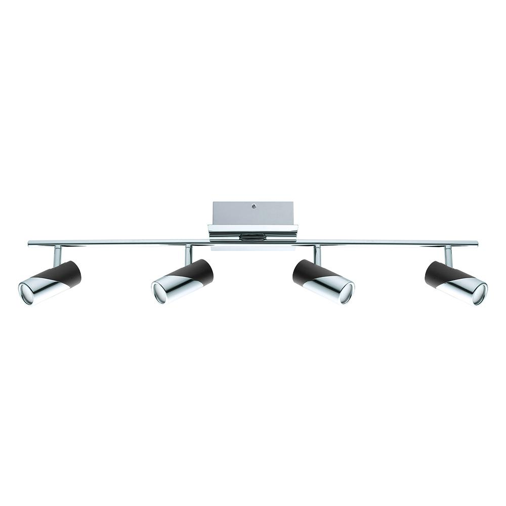 Eglo Bernedo 2 5 Ft Chrome And Black Integrated Led Track Lighting Kit