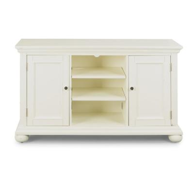 Dover 56 in. White Wood TV Stand Fits TVs Up to 60 in. with Storage Doors