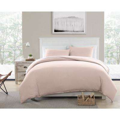 Pink King Eco-Friendly Recycled Cotton Blend T-Shirt Jersey Duvet and Sham Set
