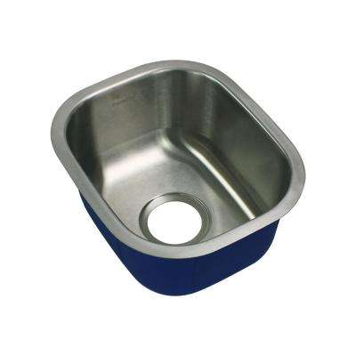 Meridian Undermount Stainless Steel 15 in. Single Bowl Kitchen Sink in Brushed Stainless Steel