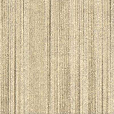 First Impressions Barcode Rib Ivory Texture 24 in. x 24 in. Carpet Tile (15 Tiles/60 sq. ft./case)