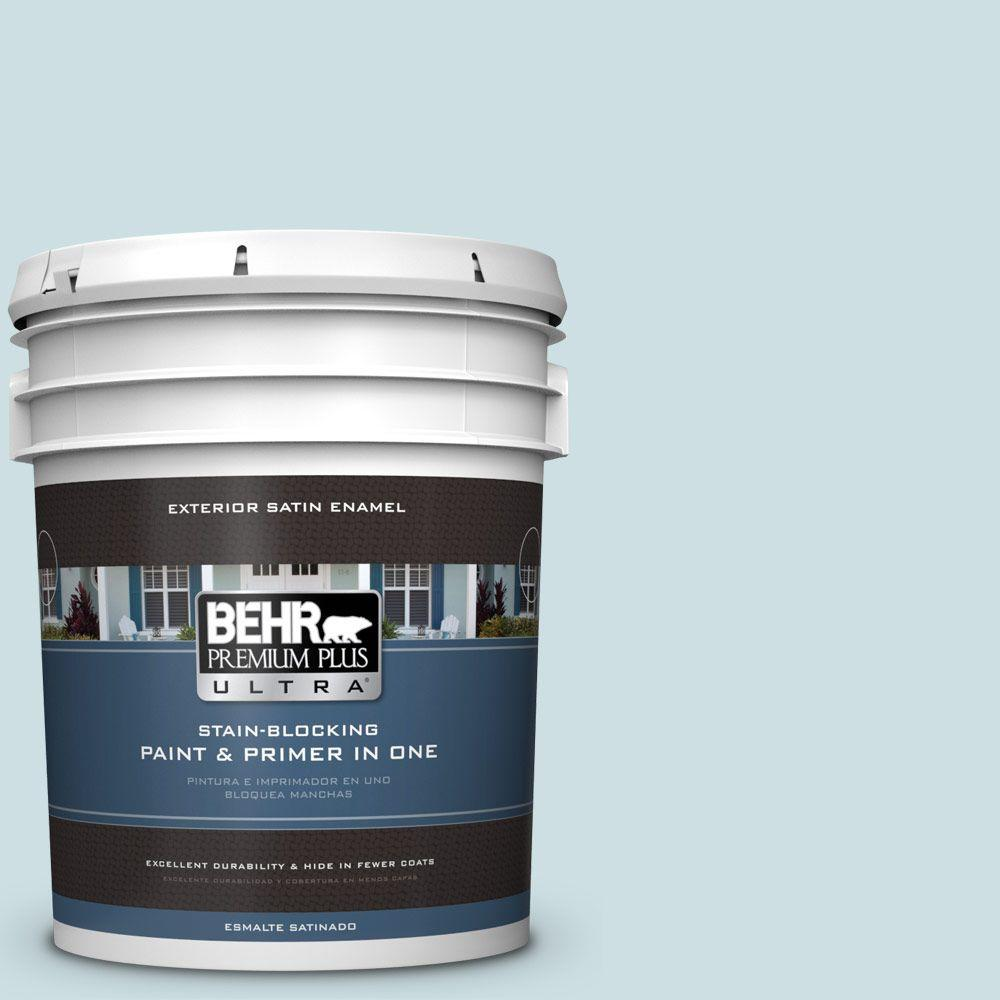 BEHR Premium Plus Ultra 5-gal. #S450-1 Beach Foam Satin Enamel Exterior Paint