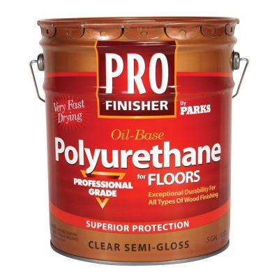 Pro Finisher 5 gal. Clear Semi-Gloss 350 VOC Oil-Based Interior Polyurethane for Floors