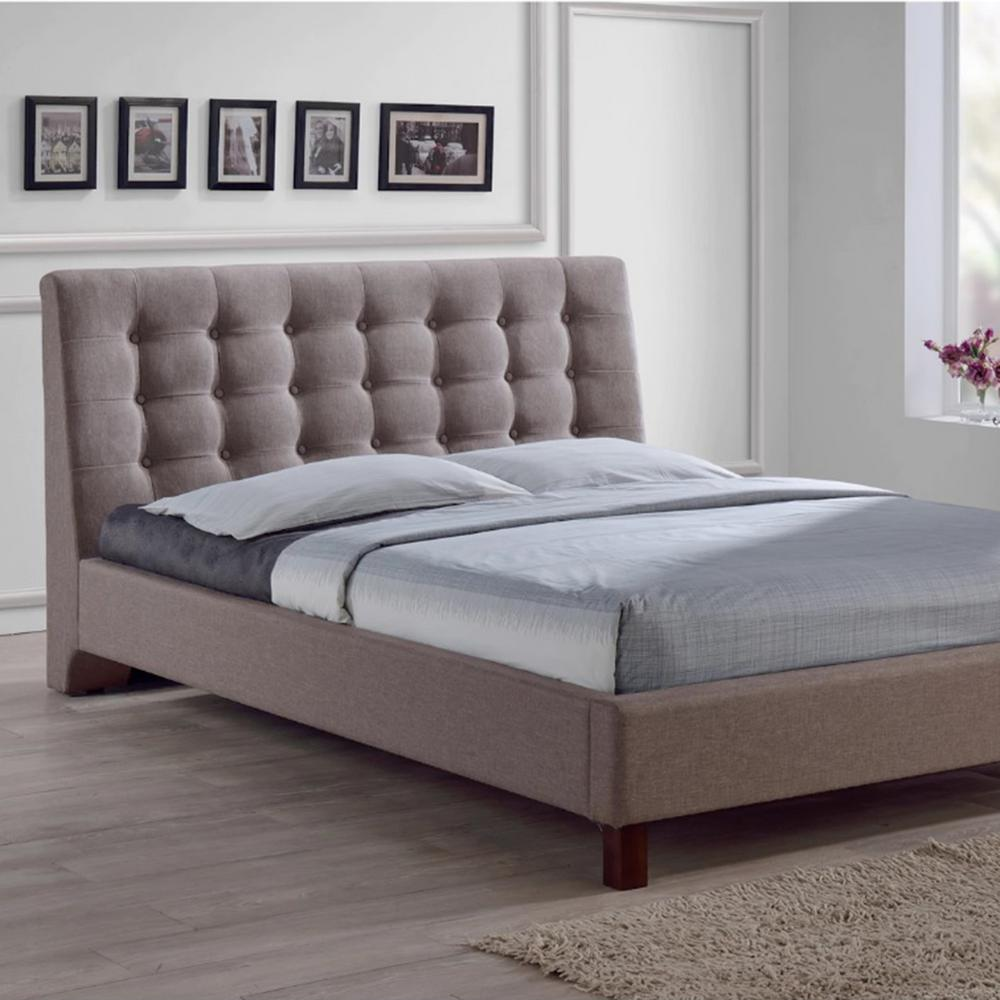 Emmeline Light Brown Full Upholstered Bed. Gray   Beds   Headboards   Bedroom Furniture   The Home Depot
