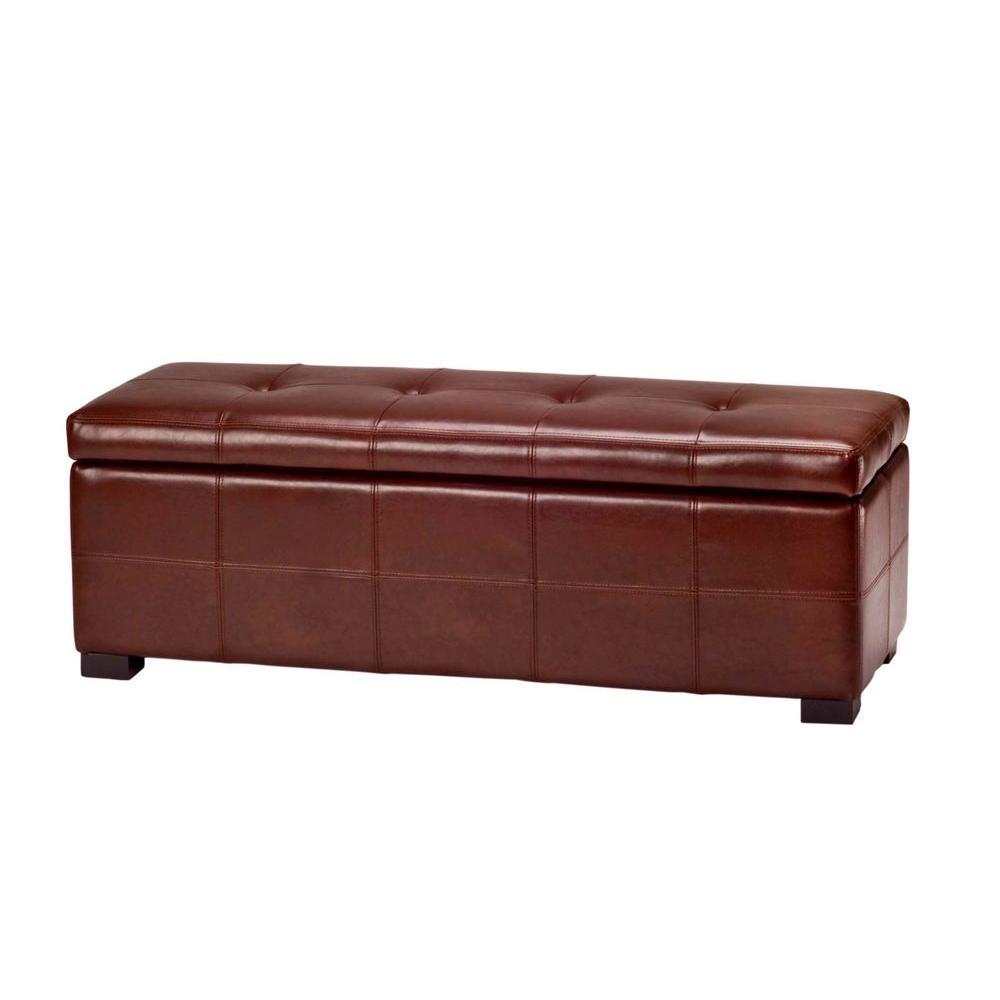 Safavieh Kerrie Cordavan Storage Bench