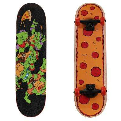 28 in. Teenage Mutant Ninja Turtles Complete Skateboard in Radical Pizza Graphic