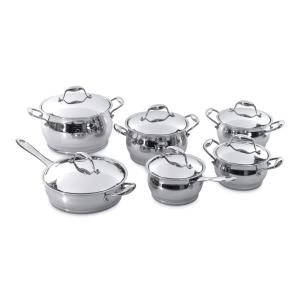 BergHOFF Zeno 12-Piece 18/10 Stainless Steel Cookware Set with Lids by BergHOFF