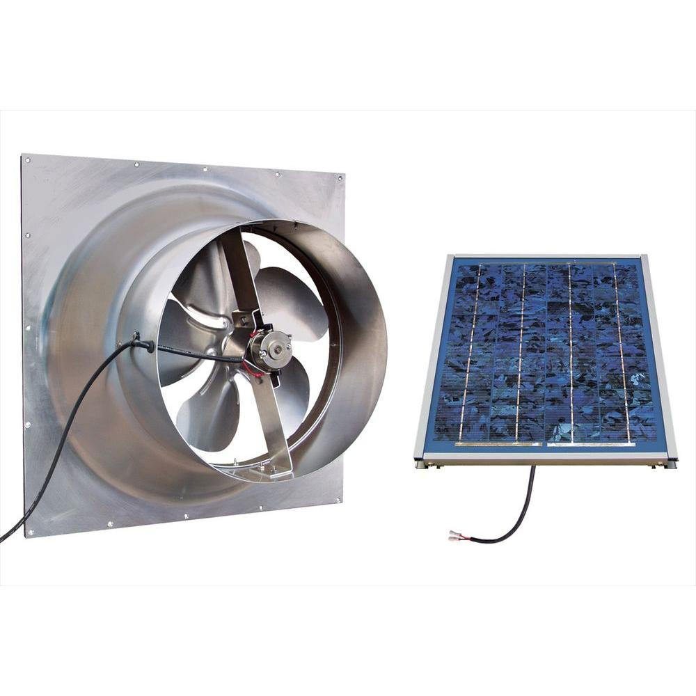 Gable 10 Watt Solar Powered Attic Fan Safg Ss The Home Depot