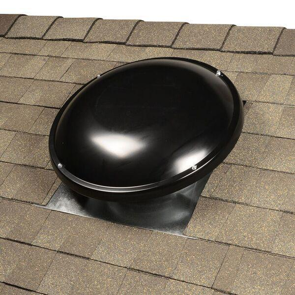 Master Flow 1250 Cfm Black Galvanized Steel Electric Powered Attic Fan With Adjustable Thermostat Erv5smtbl The Home Depot