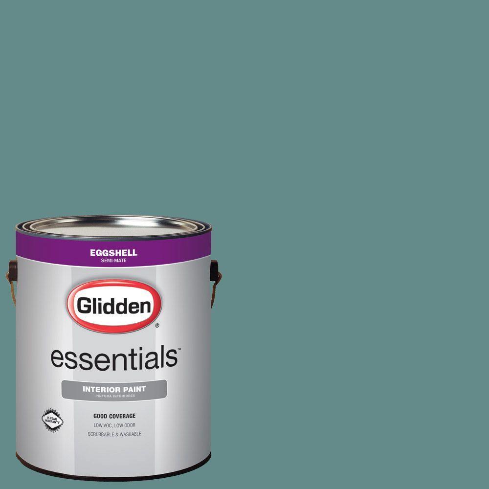 #HDGB26U Deep Ocean Teal Eggshell Interior Paint