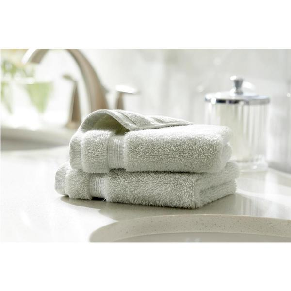 Home Decorators Collection Egyptian Cotton Wash Cloth in Sage (Set of