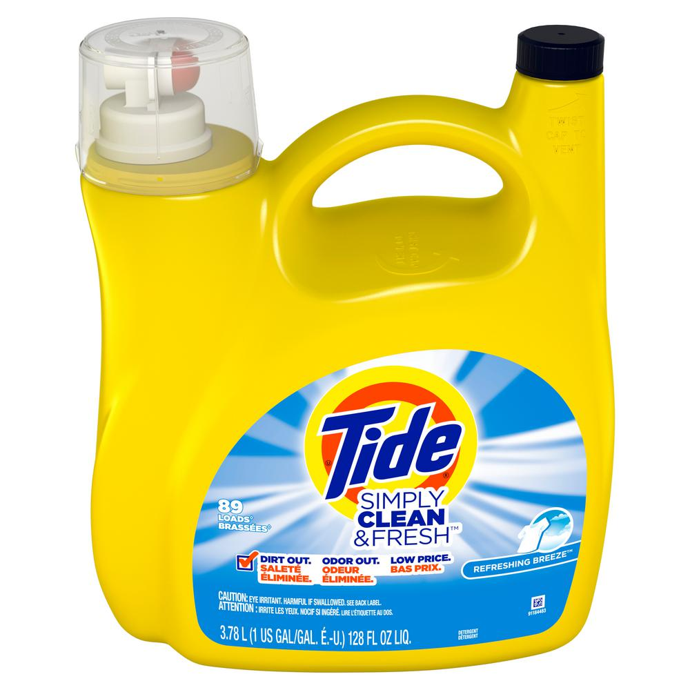 Tide 128 Fl Oz Simply Clean And Fresh Refreshing Breeze Scent