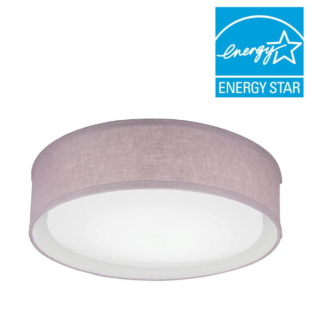 Lithonia Lighting Aberdale 16 in. Lilac LED Linen Flushmount