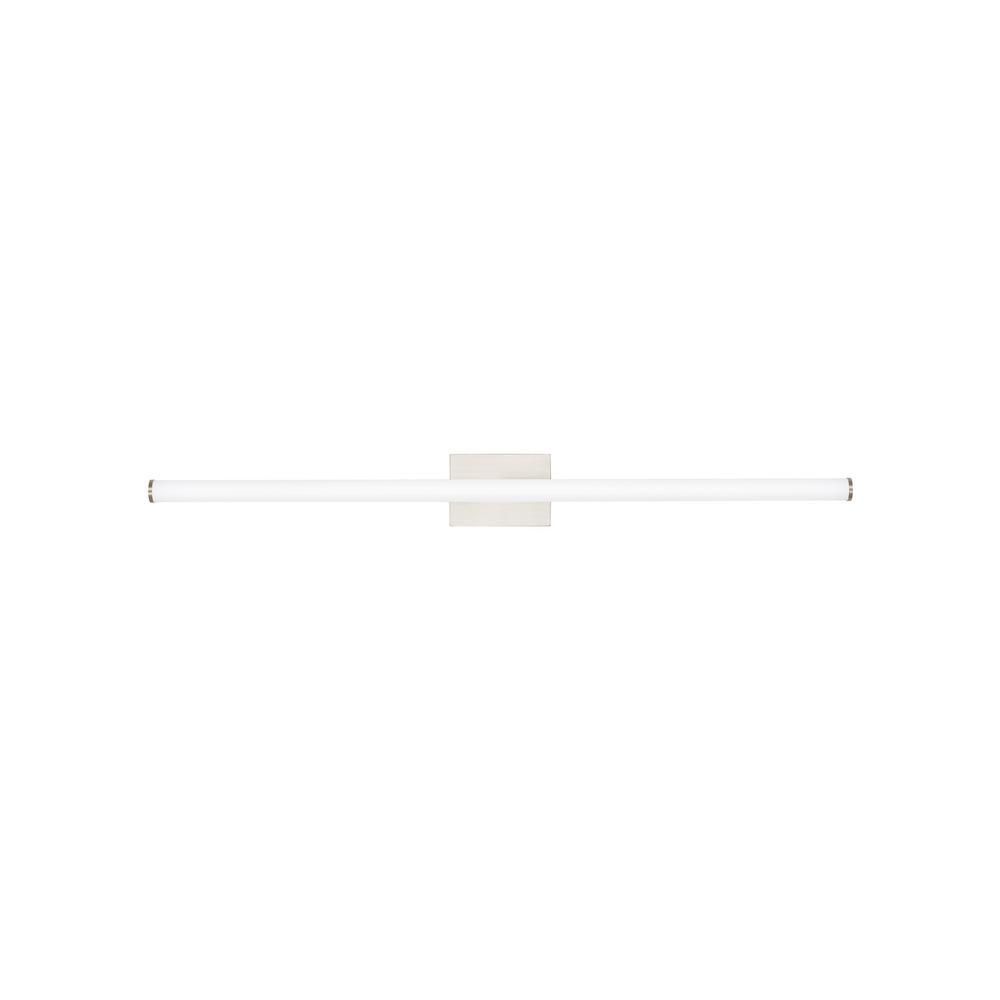 LBL Lighting Lufe Round 48 Bath 46.9-Watt Satin Nickel Integrated LED Bath Light 277-Volt Commercial