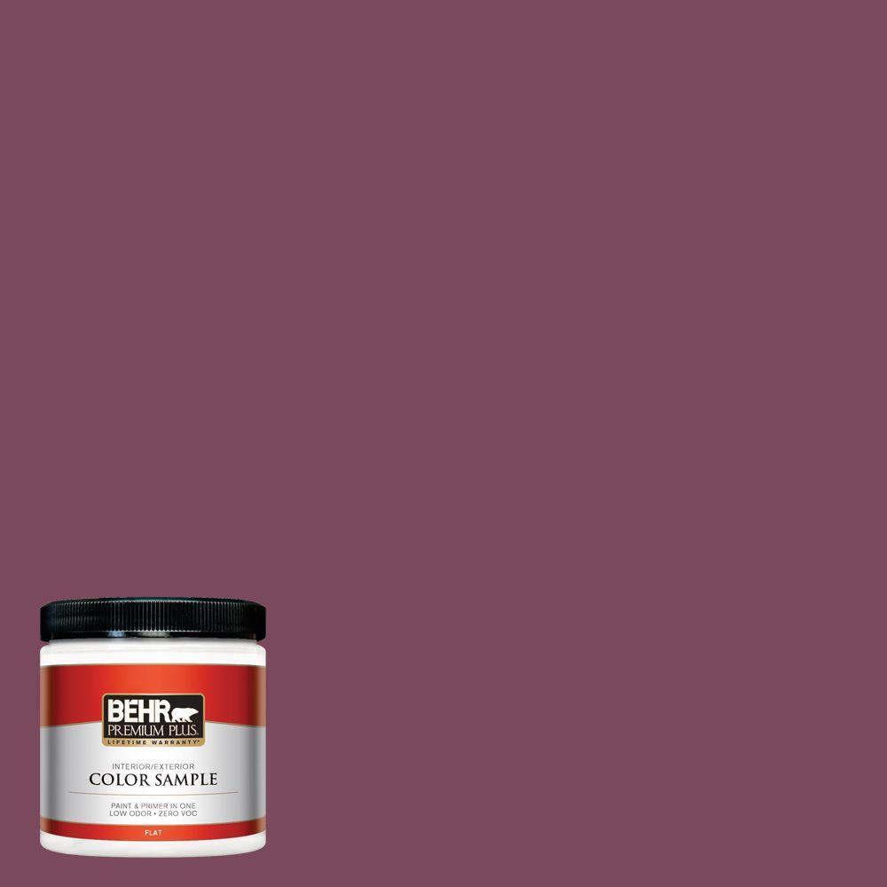Behr Premium Plus 8 Oz 100d 7 Maroon Flat Interiorexterior Paint