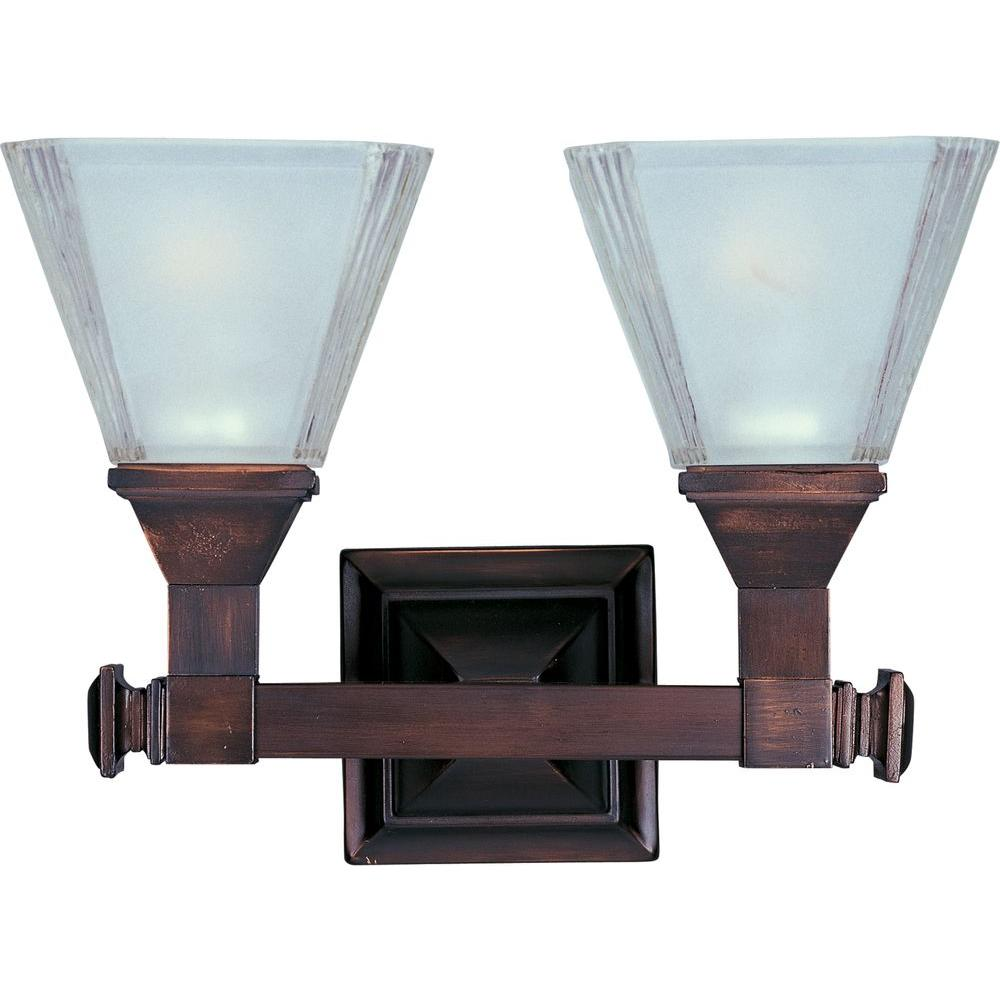 Brentwood 2-Light Oil-Rubbed Bronze Bath Vanity Light