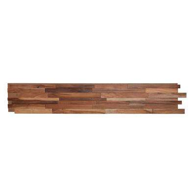 1/2 in. x 7-7/8 in. x 47-1/4 in. Acacia 3D Solid Hardwood Interlocking Wall Plank