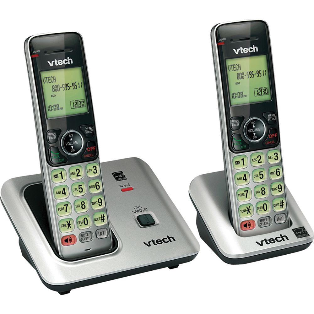 vtech 2 handset cordless phone system with caller id and call waiting cs6619 2 the home depot. Black Bedroom Furniture Sets. Home Design Ideas