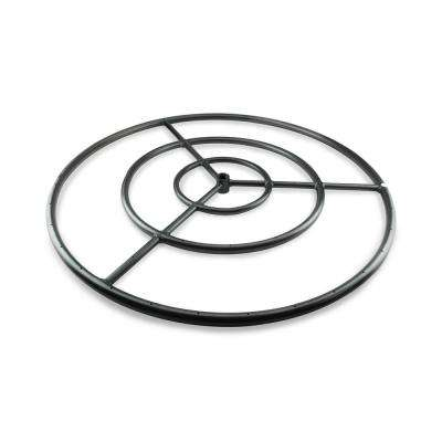 30 in. Black Steel Fire Ring Burner with Connector Kit