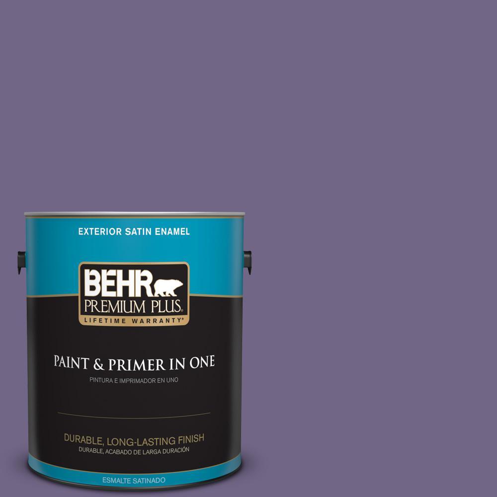 1 gal. #PPU16-18 Hyacinth Arbor Satin Enamel Exterior Paint