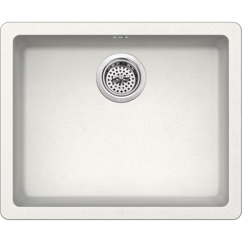 Drop-in Granite Composite 22 in. Single Bowl Kitchen Sink in Alpine White