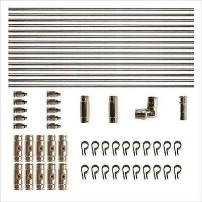AR Misting Pro 20 ft. Stainless Steel Tubing Kit, with 0.008 Nozzles and adapters
