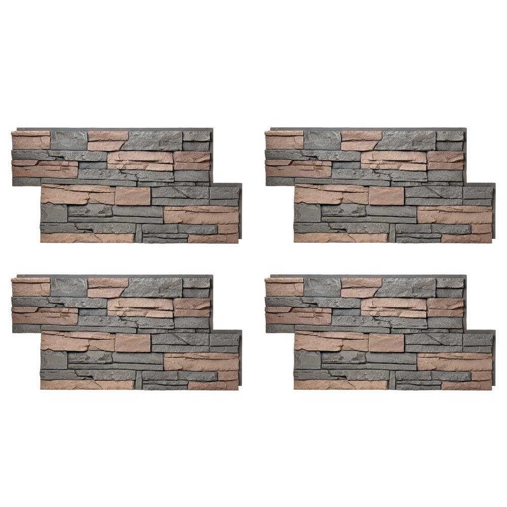 Stacked Stone 24 in. x 42 in. Stratford Faux Stone Siding