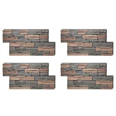 Stacked Stone 24 in. x 42 in. Stratford Faux Stone Siding Panel (4-Pack)